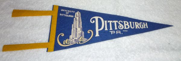 1950's Pitt full-size pennant with Cathedral of Learning