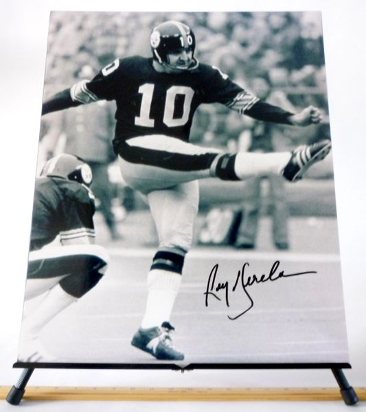 Roy Gerela, Pittsburgh Steelers signed 16x20 photo
