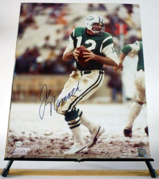 Joe Namath, New York Jets signed 16x20 photo