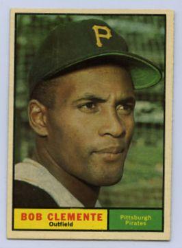 57 1961 Roberto Clemente Topps Baseball Card 388