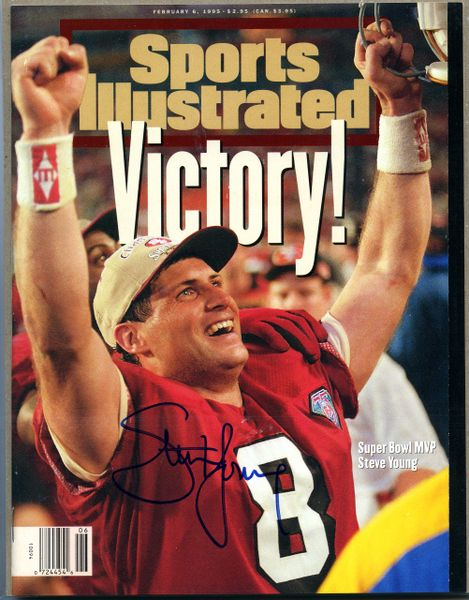 Steve Young, San Francisco 49'ers signed Sports Illustrated