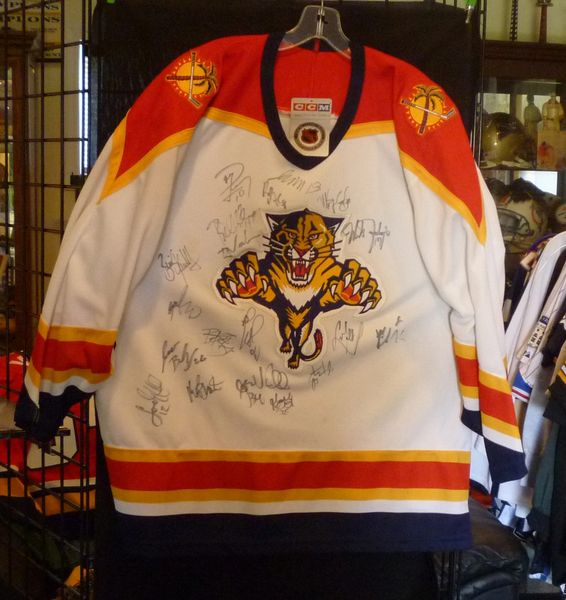 1st year team signed Florida Panthers hockey jersey, 1993-94