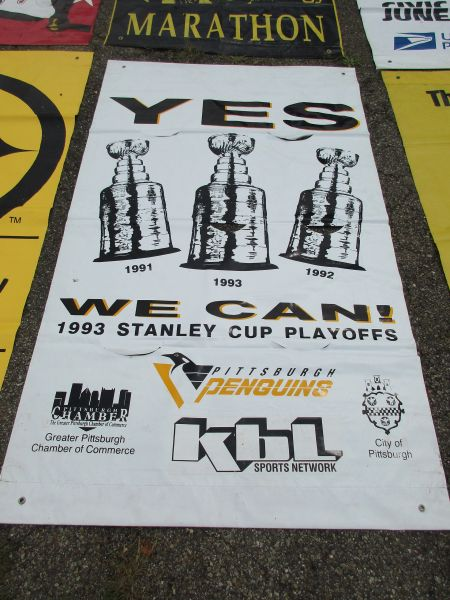 Pittsburgh Penguins City of Pittsburgh Stanley Cup street banner