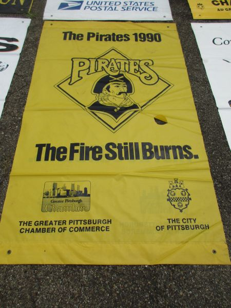 1990 Pittsburgh Pirates City of Pittsburgh street banner