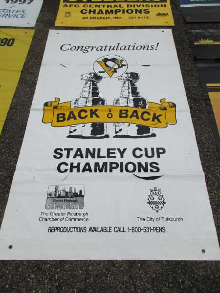 1992 Pittsburgh Penguins City of Pittsburgh Stanley Cup street banner