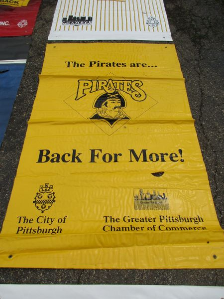 1990's Pittsburgh Pirates City of Pittsburgh street banner