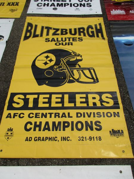 1990's Pittsburgh Steelers City of Pittsburgh street banner