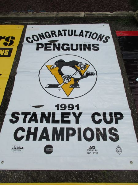 1991 Penguins Stanley Cup Champs, City of Pittsburgh street banner