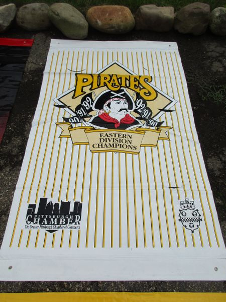 1991-92-93 Pittsburgh Pirates City of Pittsburgh street banner