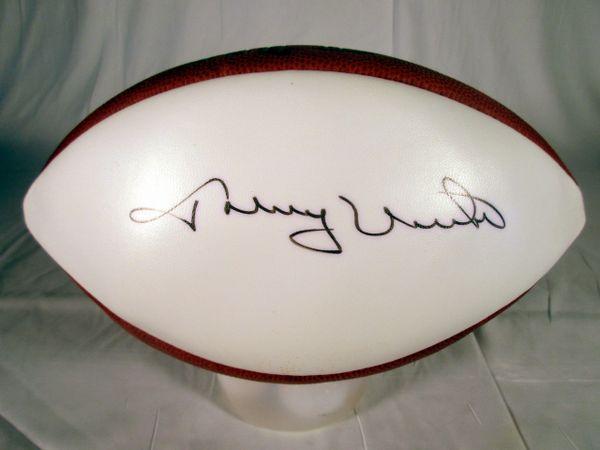 Johnny Unitas Baltimore Colts signed football