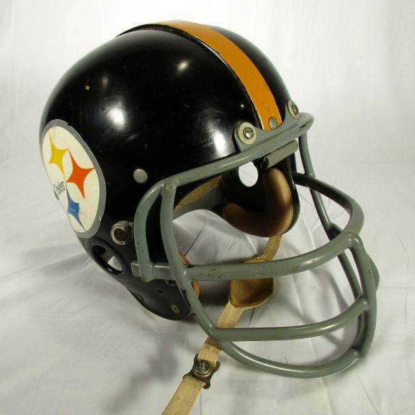 "1970-71 Chuck Allen, LB Pittsburgh Steelers game used ""suspension"" helmet"