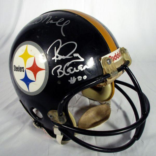 1970's Pittsburgh Steelers multi signed retro helmet