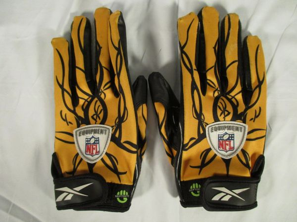 Mike Wallace WR, Pittsburgh Steelers signed game used gloves