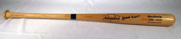 Hank Aaron Atlanta Braves signed personal model bat