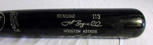 Jeff Bagwell Houston Astros game issued, signed bat