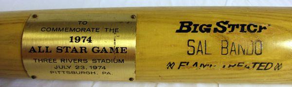 Sal Bando Oakland A's 1974 All Star Game commemorative bat