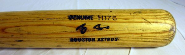 Craig Biggio Houston Astros game used, signed bat