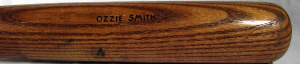 Ozzie Smith St. Louis Cardinals game used bat