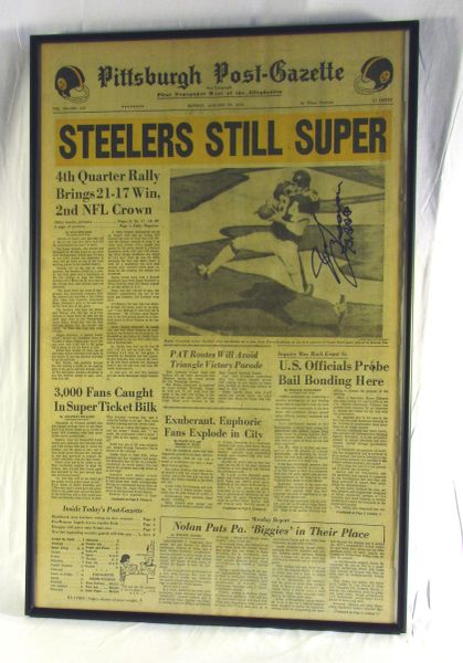 Super Bowl 10 - Steelers vs. Cowboys - signed by Randy Grossman
