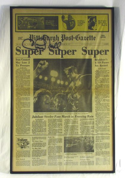 Super Bowl 13 - Steelers vs. Cowboys - Signed by Chuck Noll