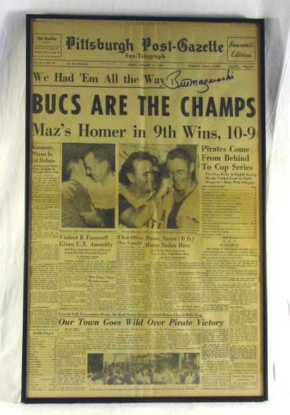 1960 World Seriess - Pirates vs. Yankees - Signed by Bill Mazeroski