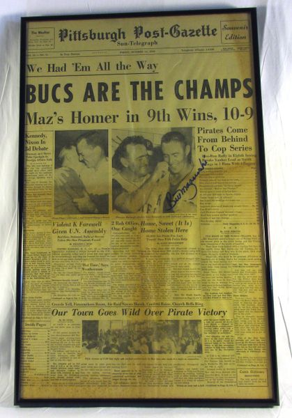 1960 World Series - Pirates vs. Yankees - Signed by Bill Mazeroski