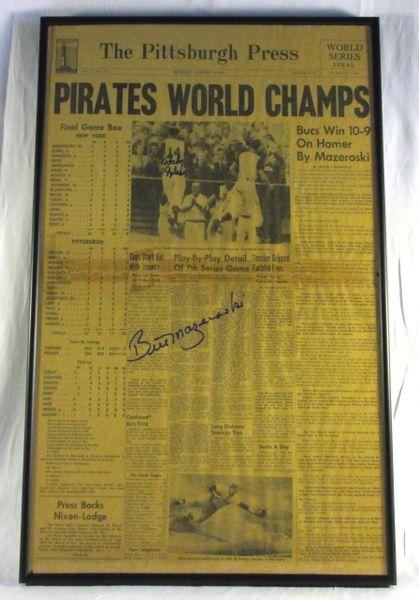 1960 World Series - Pirates vs. Yankees - Signed by Rocky Nelson & Bill Mazeroski