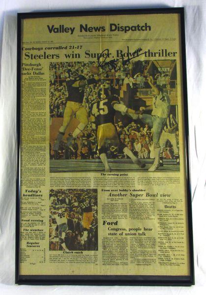 Super Bowl 10 - Steelers vs. Cowboys - Signed by Reggie Harrison
