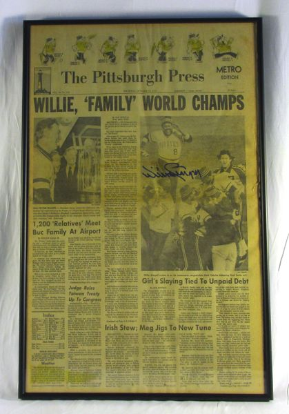 1979 World Series - Pirates vs. Orioles - Signed by Willie Stargell