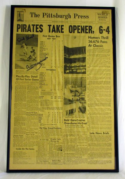 1960 World Series - Pirates vs. Yankees - Signed by Dick Groat & Bill Mazeroski