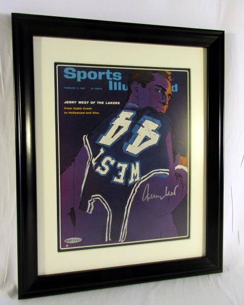 Jerry West, LA Lakers - signed Sports Illustrated - Upper Deck authenticated