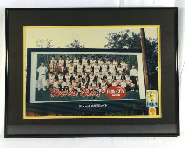 1960 Pittsburgh Pirates billboard photo - Iron City Beer