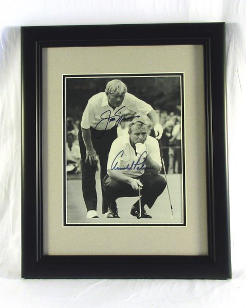 Jack Nicklaus & Arnold Palmer signed photo