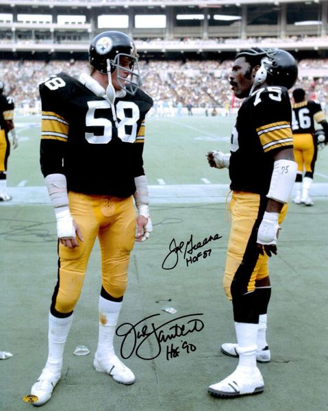58. Jack Lambert & Joe Greene 11x14 photo