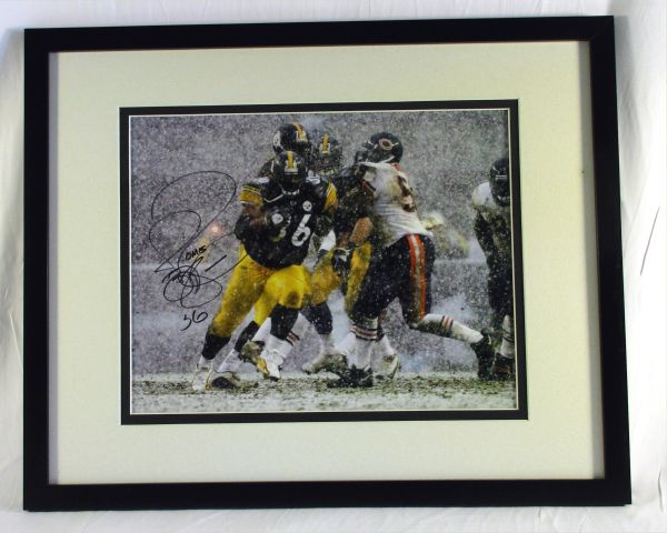 Jerome Bettis - Pittsburgh Steelers - signed, matted & framed 8x10 photo