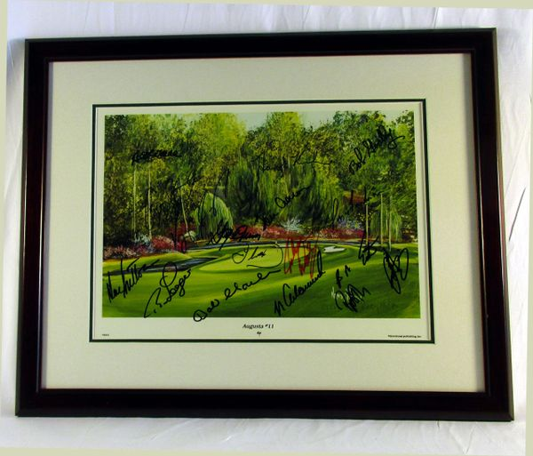 Masters Golf multi-signed litho - 17 signatures - all signed at the 1999 Master Golf Tournament