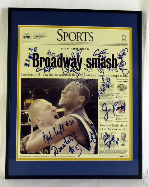 2003 Pitt basketball - team signed Post Gazette page