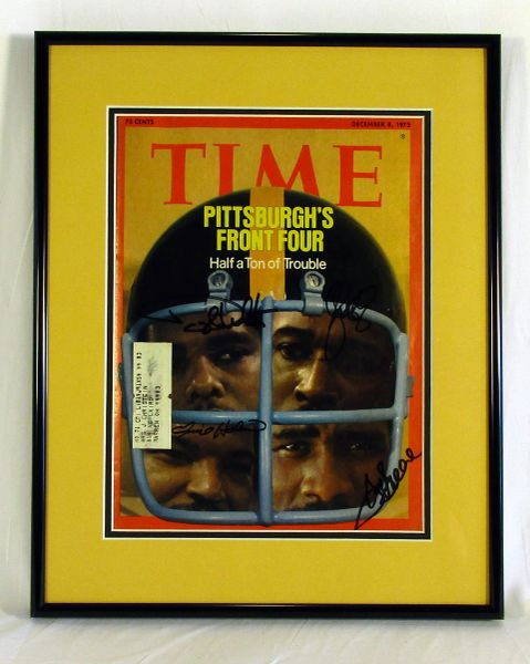 Pittsburgh Steelers, Steel Curtain signed TIME magazine - 12/8/75