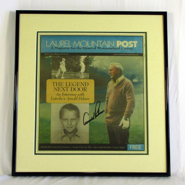 Arnold Palmer signed Laurel Mtn. Post insert