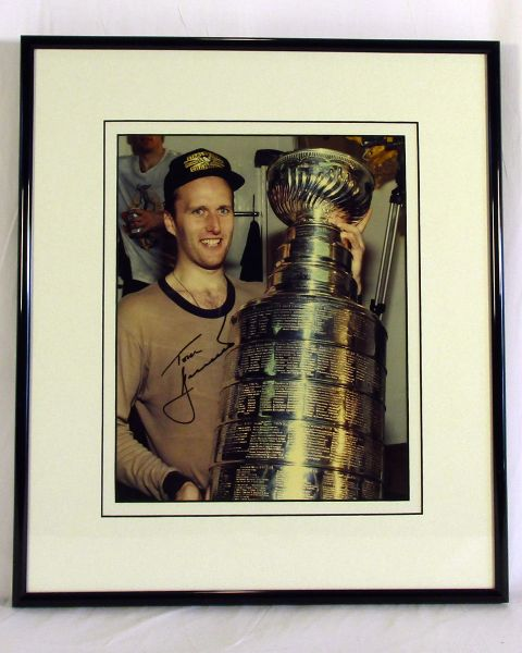 Tom Barrasso, Pittsburgh Penguins - signed 8x10 Stanley Cup photo