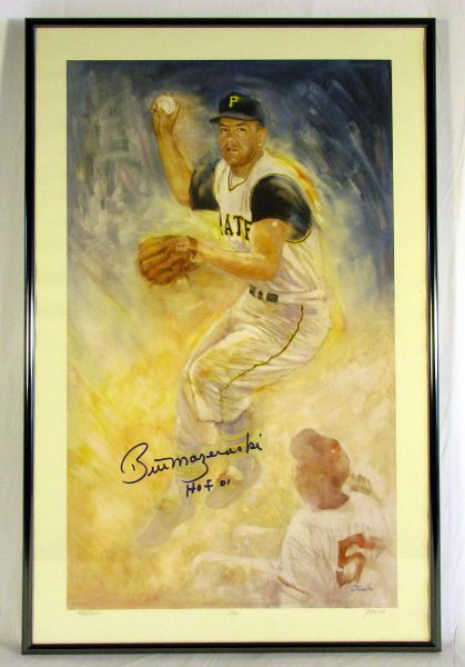 Bill Mazeroski, Pittsburgh Pirates signed artwork