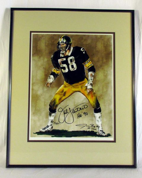 Jack Lambert, Pittsburgh Steelers - signed artwork - Artist Proof #1/100
