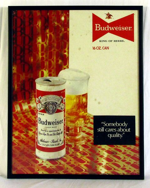 Budweiser Beer 1970's original advertising display