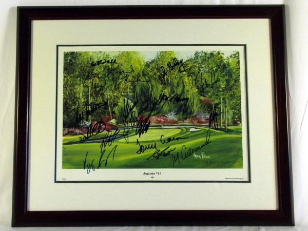 1999 Masters Golf multi signed litho, Augusta #11 (2)