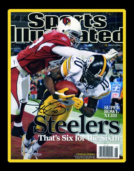 2. Santonio Holmes SI cover 8x10 photo