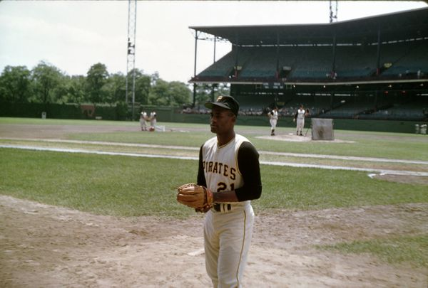 5. Roberto Clemente Forbes Field 8x10 photo