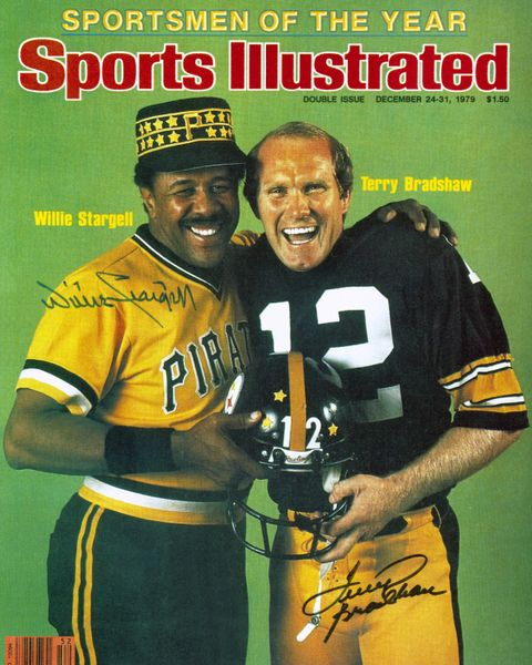 8. Willie Stargell & Terry Bradshaw SI cover 8x10 photo