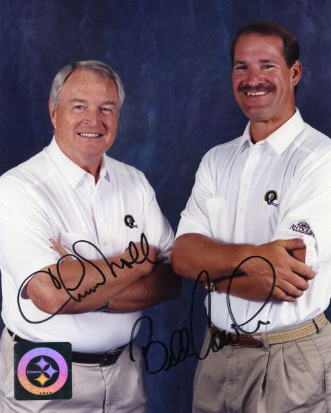 25. Chuck Noll & Bill Cowher 8x10 photo