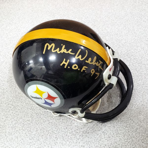 MIKE WEBSTER - STEELERS - SIGNED MINI HELMET