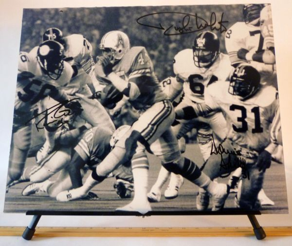 Robin Cole, Dwight White, Donnie Shell, Pittsburgh Steelers signed 16x20 photo